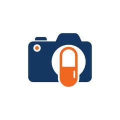 Medicine Camera Logo Icon Design
