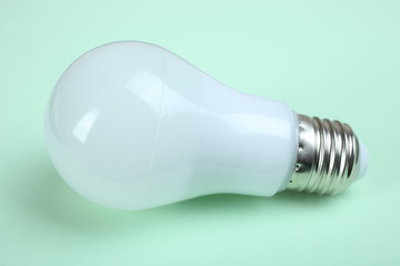 Light bulb with frosted glass