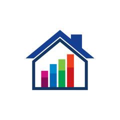 Graph House Logo Icon Design