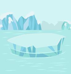North pole Arctic  background