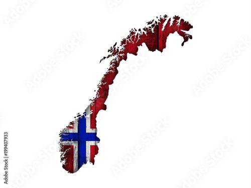 Karte Norwegen.Karte Und Fahne Von Norwegen Auf Holz Stockfotos Und