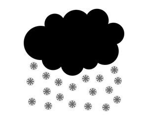 Schneewolke auf weiss