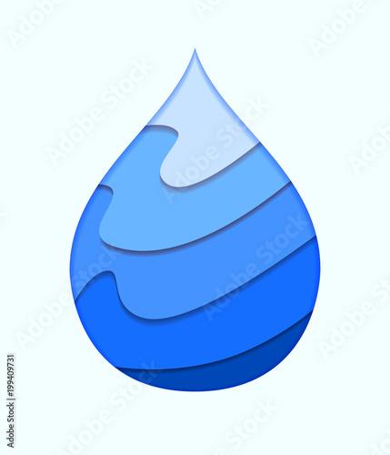 Water Drop Logo Design Template Vector Abstract Water Drop Paper
