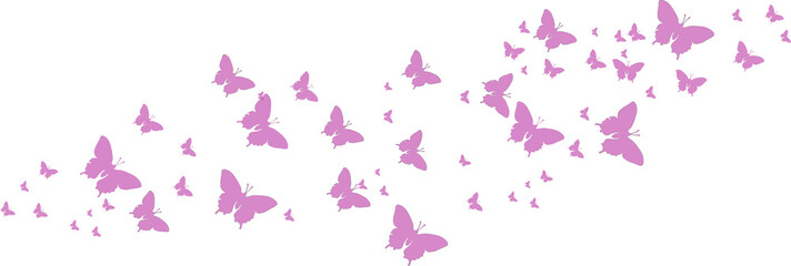 Lila Schmetterlinge