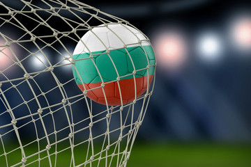 Bulgarian soccerball in net