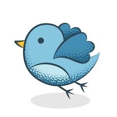 Oiseau dessin bleu