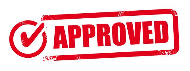 Fototapeta stamp approved