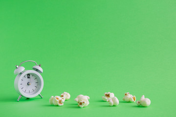 Snack time minimalistic background