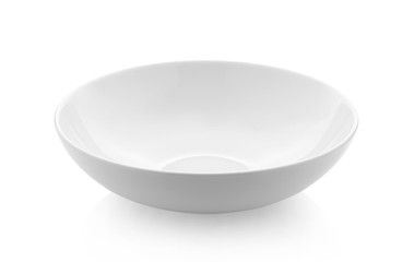 empty white bowl on white background