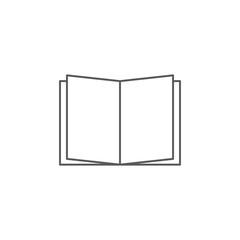 Book icon. Sign design.