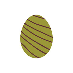 Eastern egg icon in flat style.