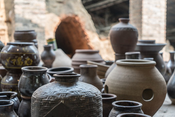 old clay pots
