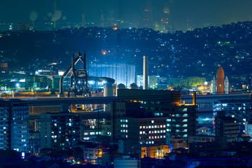 地方都市夜景(福岡県北九州市)