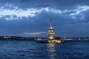 The Maiden's Tower served many different purposes throughout the centuries, including a merchantman tax collection center, a defense tower, and a lighthouse.