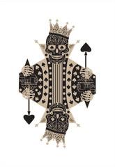 King skull card background