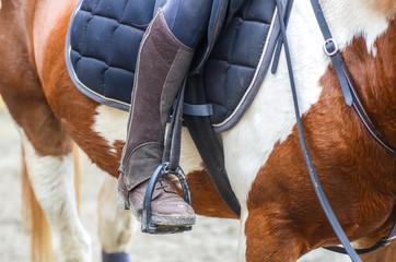 Photo sur Plexiglas Equitation les pieds dans les étriers