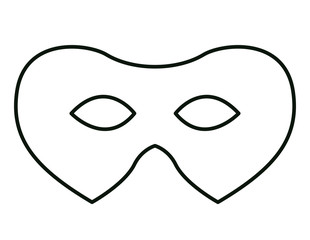 mardi gras mask icon