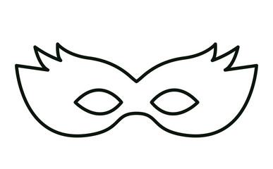 mardi gras mask icon