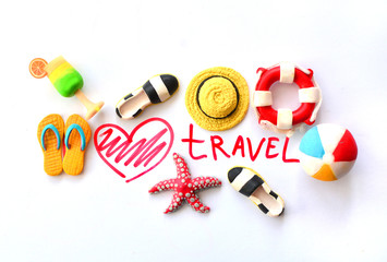 Summer holiday background with heart