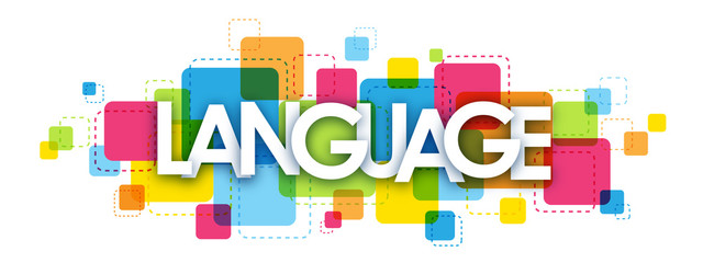 LANGUAGE colourful letters icon