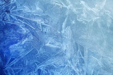 Photo background frozen ice