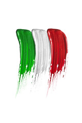 Italian flag brush strokes