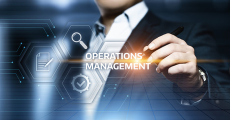 Operations Management Strategy Business Internet Technology Concept