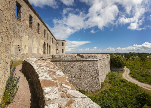 Borgholm fort ruin on Oland
