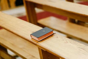 the little bible lies in the church