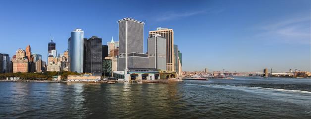 South Manhattan, New York City Cityscape Panorama