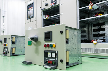equipment of electrical switchgear panel take off for maintenance shutdown.