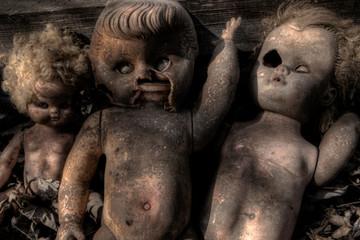Creepy Broken Old Dolls