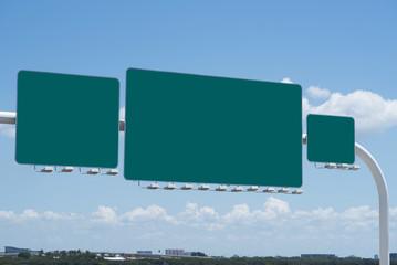 Blank Freeway Signs