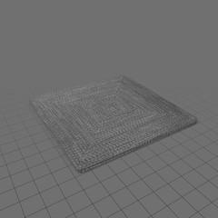 Square indoor rug