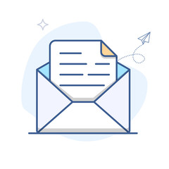 Vector Email Line Icon. E-mail envelope outline vector illustration