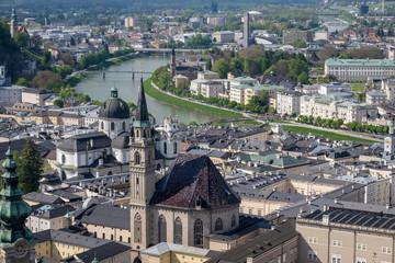 Salzburg at sunny day