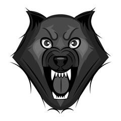 wolf growls vector