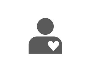 Man heart icon