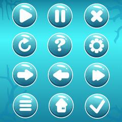 GUI Asset of Nautical Buttons