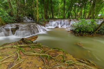 Kroeng Krawia Waterfalls in Kanchanaburi, Thailand