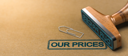 Our prices, web header.