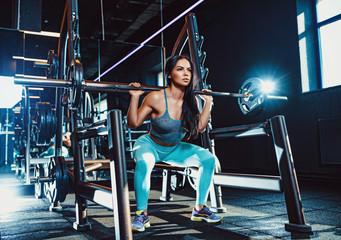 Sports woman training