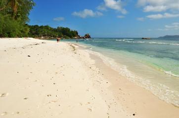 Tropical beach,  Seychelles islands