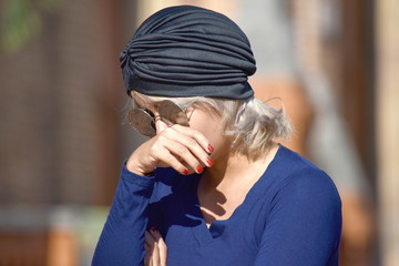 Tearful Young Diverse Islamic Woman
