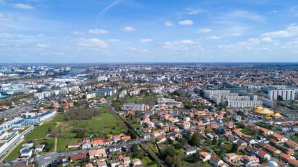 Vue aérienne de la ville de Rezé en Loire Atlantique
