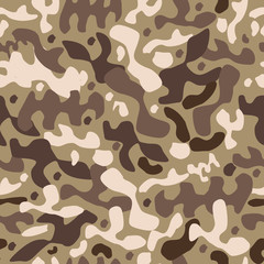 seamless camouflage pattern. blue  yellow and brown colors