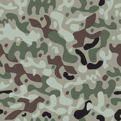 seamless camouflage pattern. green, brown, black and white colors