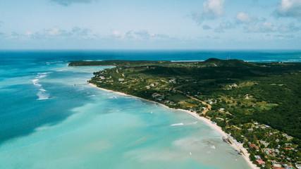 Turquoise ocean. Isla Saona