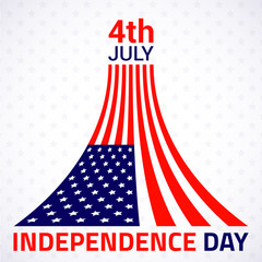 Stylish american Independence day design. Vector illustration.