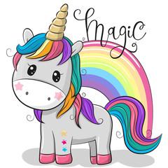 Cartoon Unicorn isolated on a white background